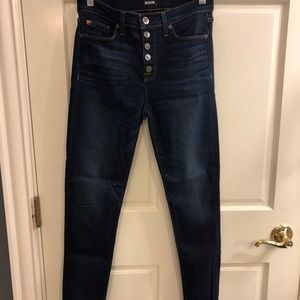Hudson skinny button fly jeans